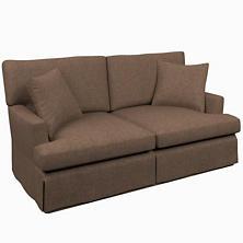 Greylock Brown Saybrook 2 Seater Slipcovered Sofa