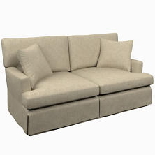 Greylock Grey Saybrook 2 Seater Slipcovered Sofa