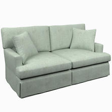 Greylock Light Blue Saybrook 2 Seater Slipcovered Sofa