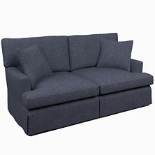 Greylock Navy Saybrook 2 Seater Slipcovered Sofa