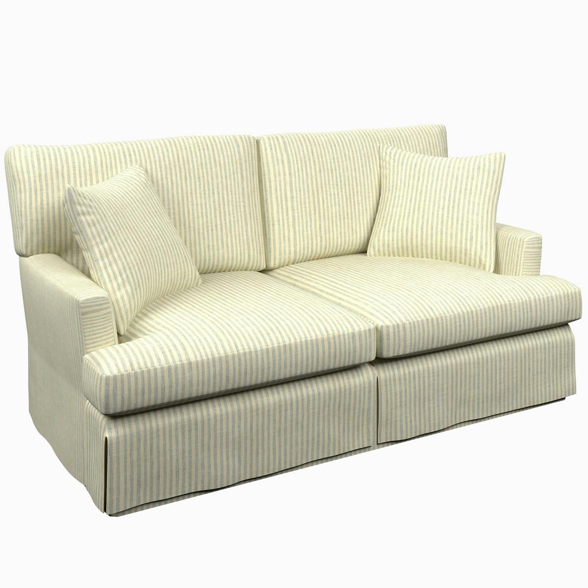 Adams Ticking Light Blue Saybrook 2 Seater Sofa