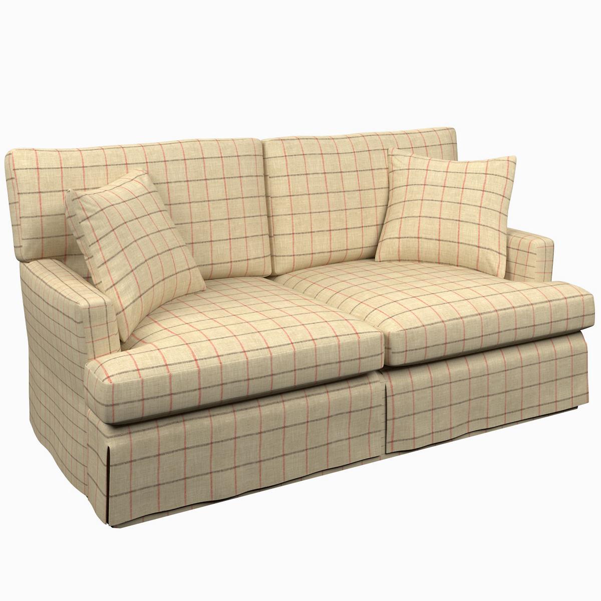 Chatham Tattersall Brick/Brown Saybrook 2 Seater Upholstered Sofa