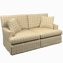 Chatham Tattersall Navy/Brown Saybrook 2 Seater Upholstered Sofa