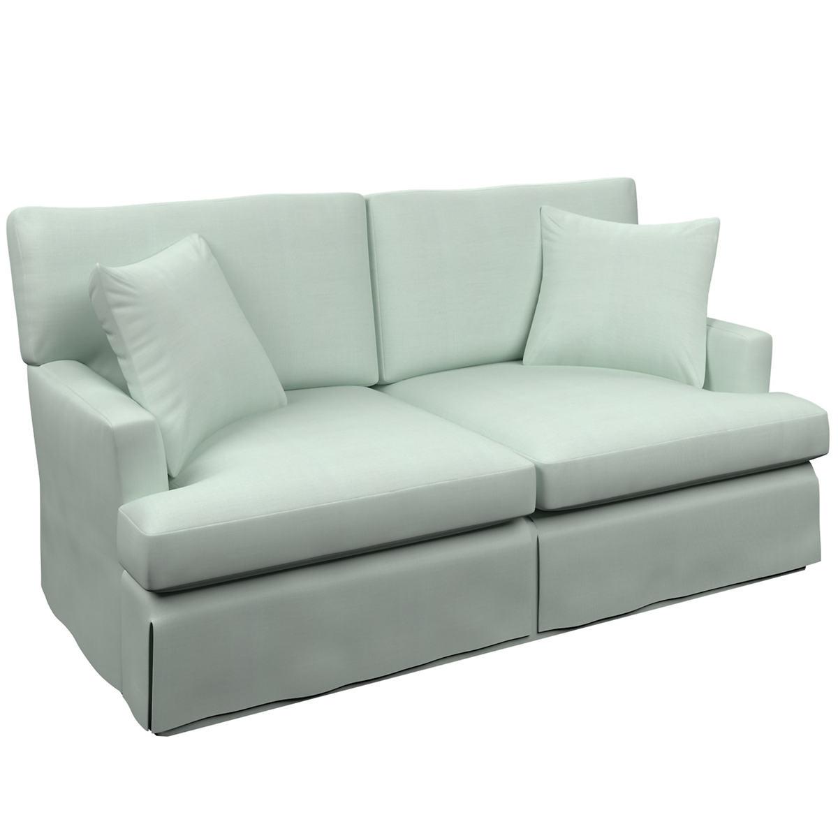 Estate Linen Powder Blue Saybrook 2 Seater Slipcovered Sofa