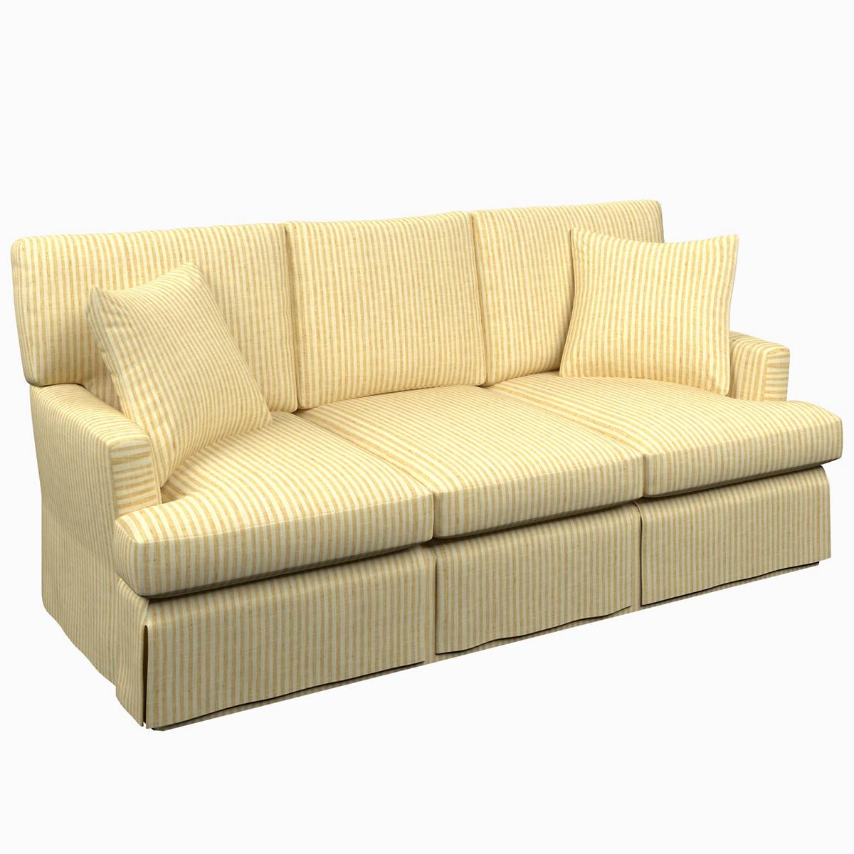 Adams Ticking Gold Saybrook 3 Seater Slipcovered Sofa