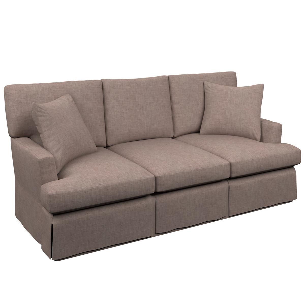 Canvasuede Heather Saybrook 3 Seater Slipcovered Sofa