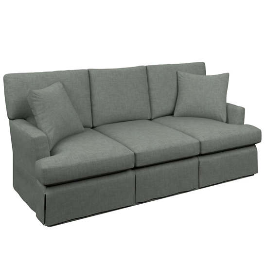 Canvasuede Ocean Saybrook 3 Seater Slipcovered Sofa
