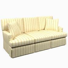 Glendale Stripe Gold/Natural Saybrook 3 Seater Slipcovered Sofa