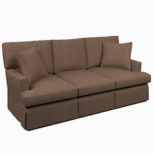Greylock Brown Saybrook 3 Seater Slipcovered Sofa