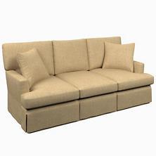 Greylock Natural Saybrook 3 Seater Slipcovered Sofa