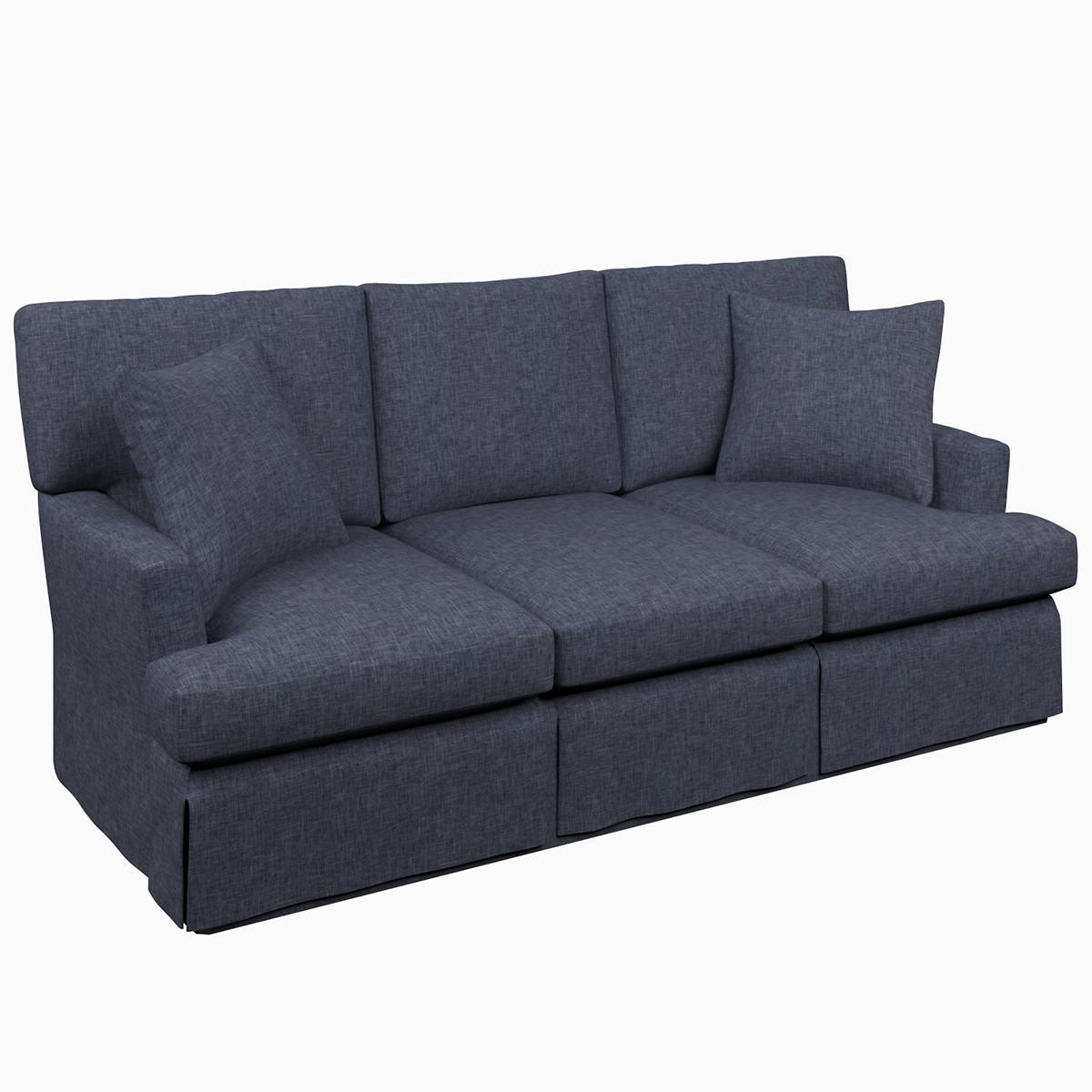 Greylock Navy Saybrook 3 Seater Slipcovered Sofa