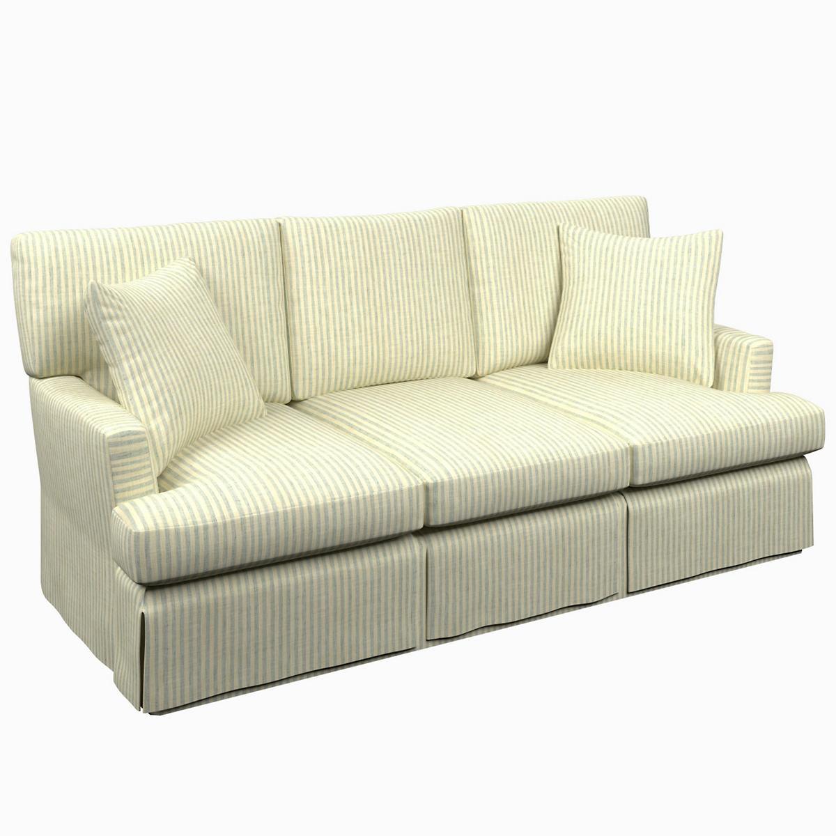 Adams Ticking Light Blue Saybrook 3 Seater Sofa