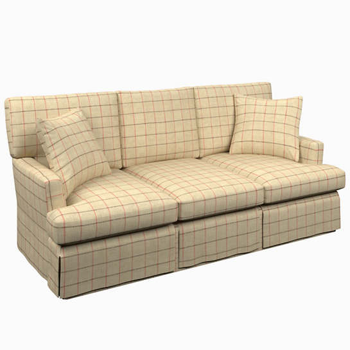 Chatham Tattersall Brick/Brown Saybrook 3 Seater Sofa