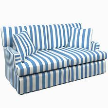 Alex French Blue Saybrook 2 Seater Slipcovered Sofa