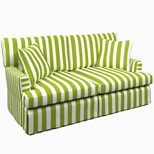 Alex Green Saybrook 2 Seater Slipcovered Sofa