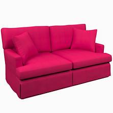 Estate Linen Fuchsia Saybrook 2 Seater Slipcovered Sofa