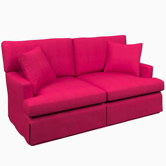 Estate Linen Fuchsia Saybrook 2 Seater Slipcovered Sofa