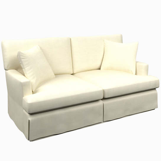 Estate Linen Ivory Saybrook 2 Seater Slipcovered Sofa