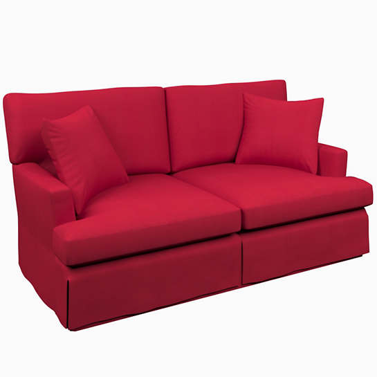 Estate Linen Red Saybrook 2 Seater Slipcovered Sofa