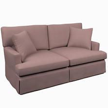Estate Linen Zinc Saybrook 2 Seater Slipcovered Sofa