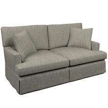 Chevron Indigo Saybrook 2 Seater Slipcovered Sofa