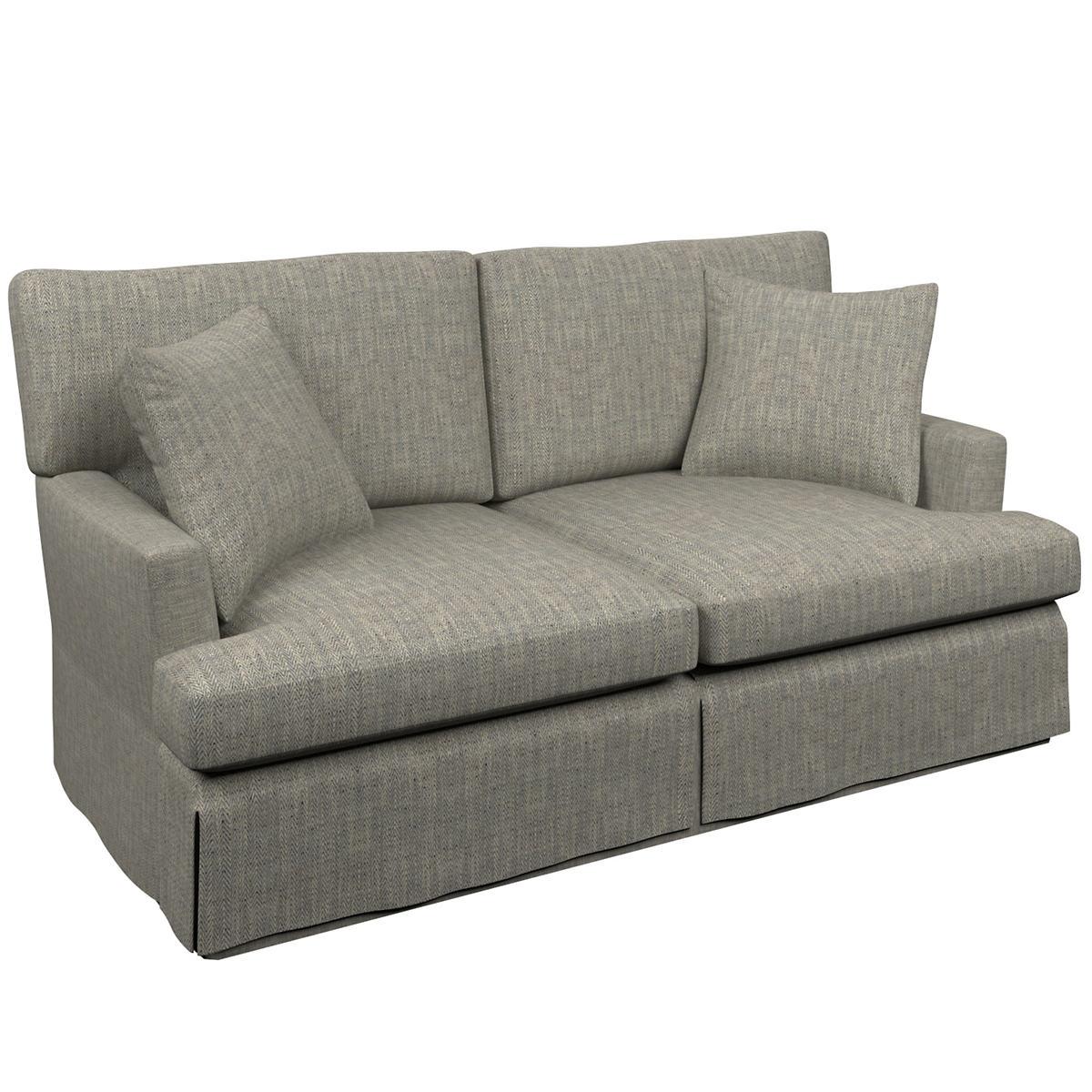Chevron Indigo Saybrook 2 Seater Slipcovered Sofa