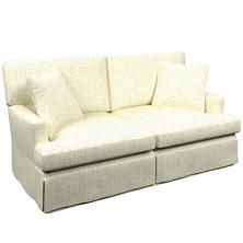 Nicholson Grey Saybrook 2 Seater Slipcovered Sofa