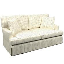 Nicholson Indigo Saybrook 2 Seater Slipcovered Sofa