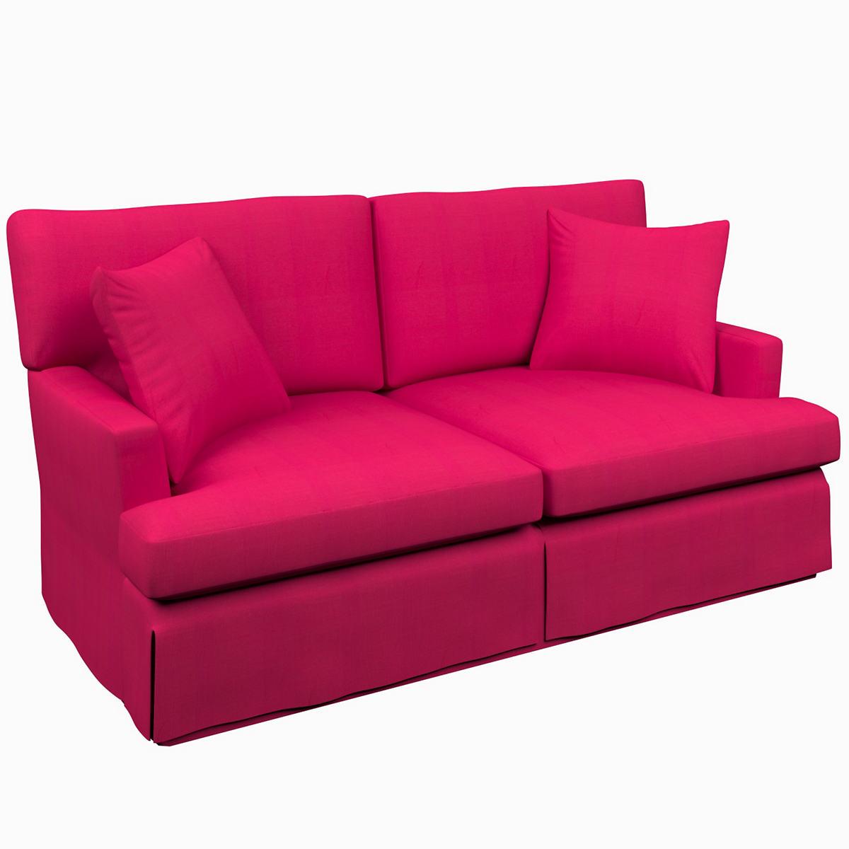Estate Linen Fuchsia Saybrook 2 Seater Upholstered Sofa