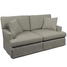 Chevron Indigo Saybrook 2 Seater Upholstered Sofa