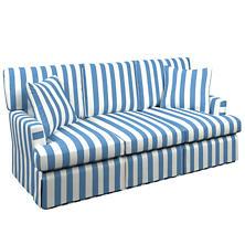 Alex French Blue Saybrook 3 Seater Slipcovered Sofa