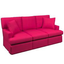 Estate Linen Fuchsia Saybrook 3 Seater Slipcovered Sofa