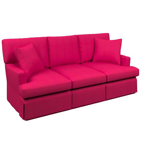 Estate Linen Fuchsia Saybrook 3 Seater Slipcovered Sofa