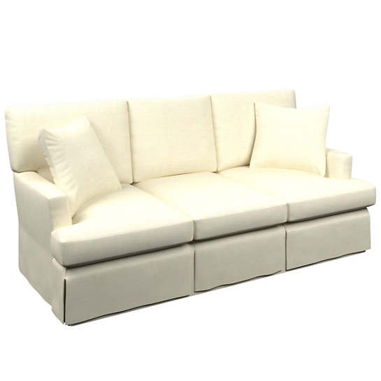 Estate Linen Ivory Saybrook 3 Seater Slipcovered Sofa