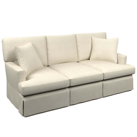 Estate Linen Pearl Grey Saybrook 3 Seater Slipcovered Sofa