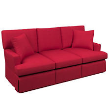 Estate Linen Red Saybrook 3 Seater Slipcovered Sofa