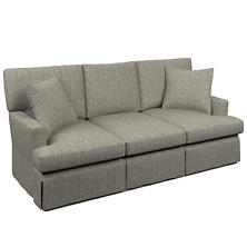Chevron Indigo Saybrook 3 Seater Slipcovered Sofa