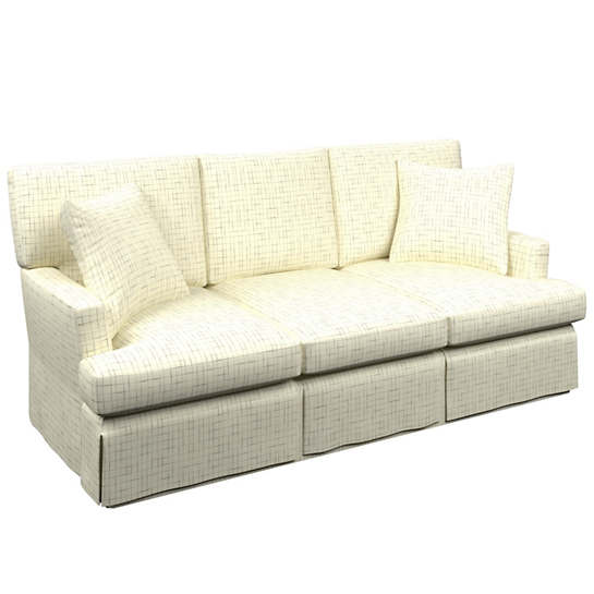 Nicholson Grey Saybrook 3 Seater Slipcovered Sofa