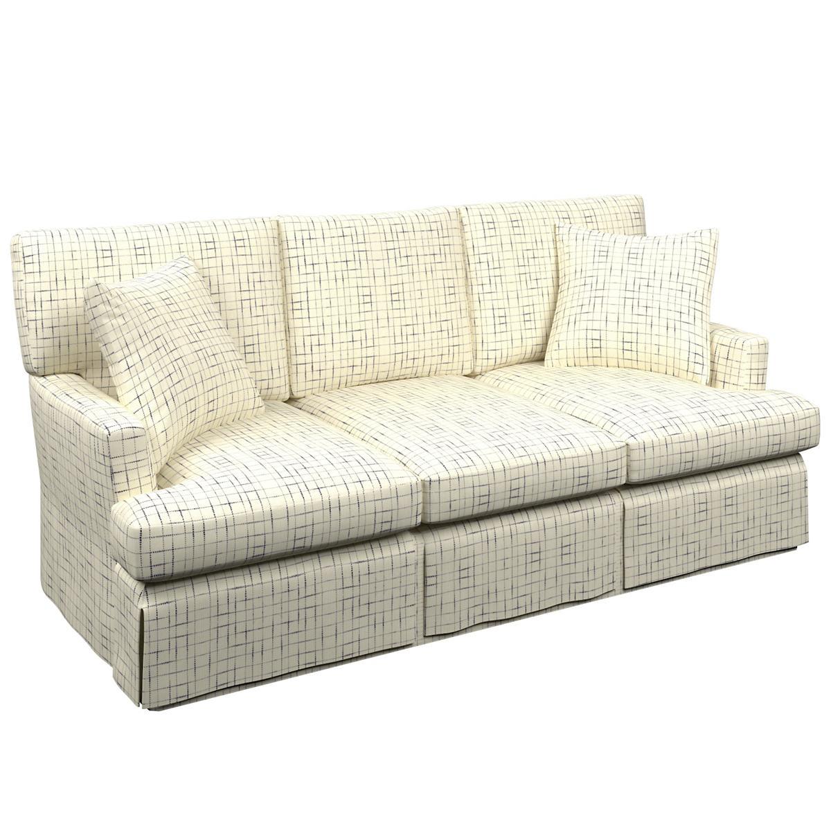 Nicholson Indigo Saybrook 3 Seater Slipcovered Sofa