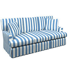 Alex French Blue Saybrook 3 Seater Upholstered Sofa