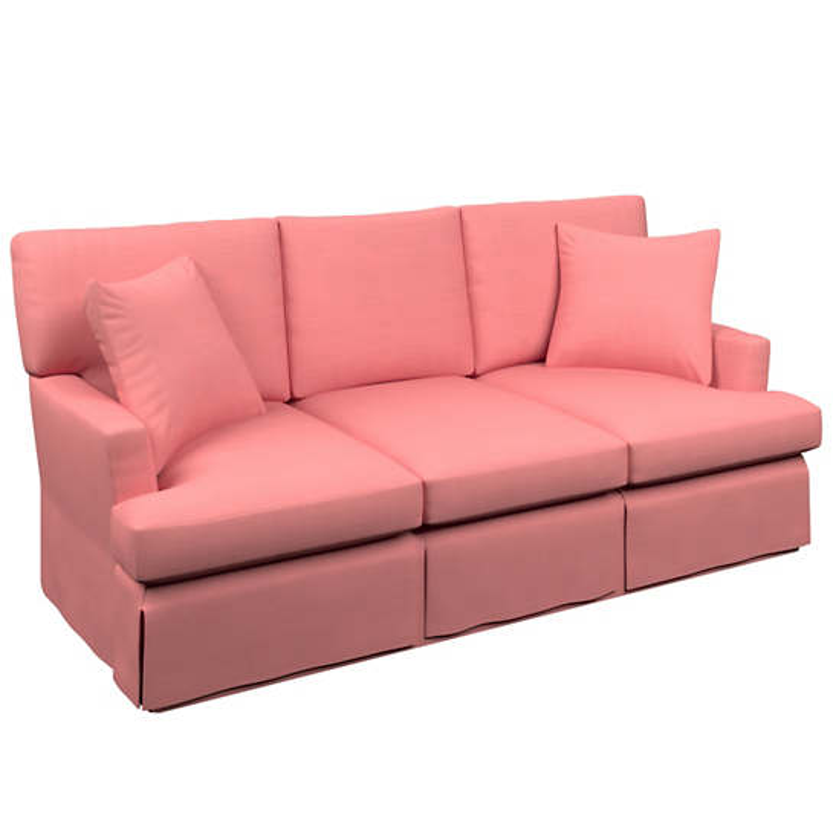 Estate Linen Coral Saybrook 3 Seater Upholstered Sofa