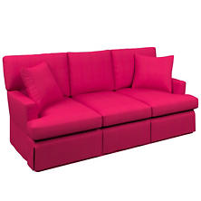 Estate Linen Fuchsia Saybrook 3 Seater Upholstered Sofa
