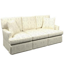 Nicholson Indigo Saybrook 3 Seater Upholstered Sofa