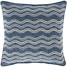 Scout Embroidered Indigo Indoor/Outdoor Decorative Pillow