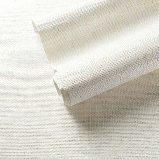 Sefina White Grasscloth Wallpaper
