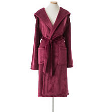Selke Fleece Garnet Hooded Robe