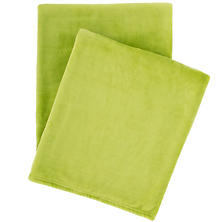 Selke Fleece Green Throw