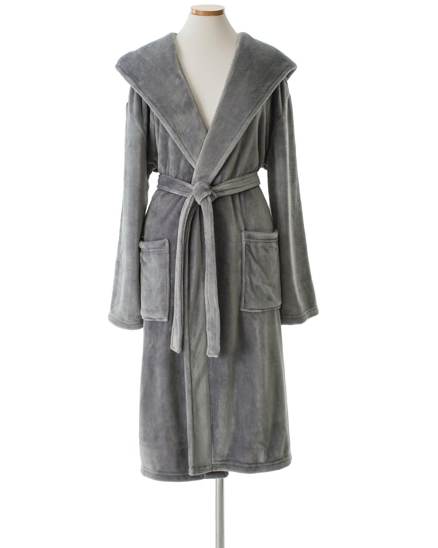 8d6d135fee Selke Fleece Greylac Hooded Robe
