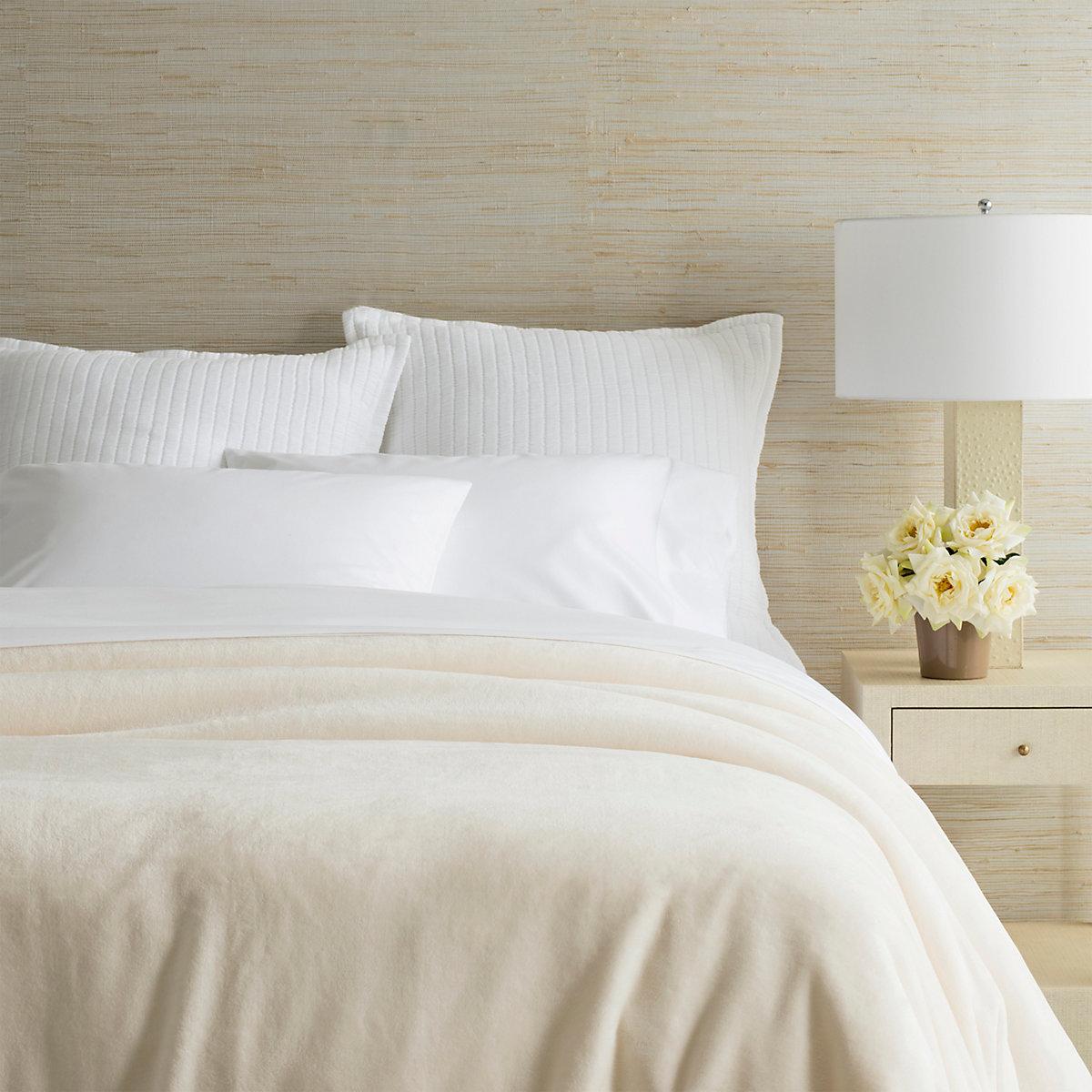 Selke Fleece Ivory Blanket Pine Cone Hill