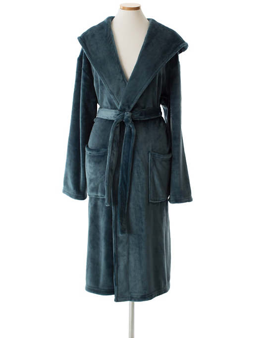 Selke Fleece Juniper Hooded Robe